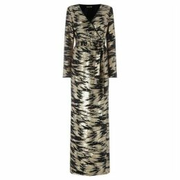 Biba Sequin wrap maxi dress