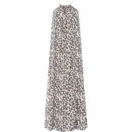 Biba Grey Leopard Maxi Dress with Split