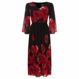 DKNY Wrap maxi printed dress