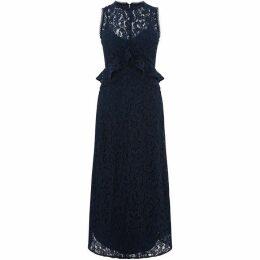 Warehouse Frill Lace Midi Dress