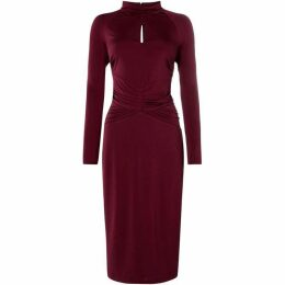 ISSA Open back midi dress