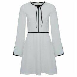 Carolina Cavour Crepe Midi Elegant Dress