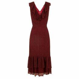 Chi Chi Lace Ruffle Detail Midi Dress