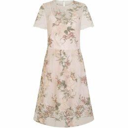 Chi Chi Floral Embroidered Midi Dress