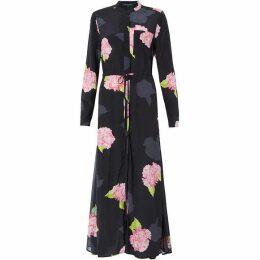 French Connection Eleonore Drape Midi Shirt Dress