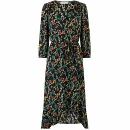 Oasis Flower Arranger Wrap Midi Dress