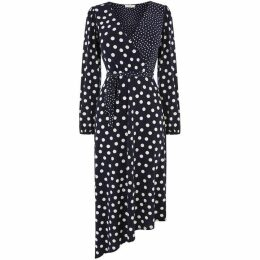 Oasis Patched Spot Midi Dress