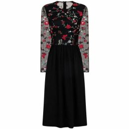 Chi Chi Floral Embroidered Midi Dress
