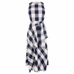 Karen Millen Oversized Gingham Midi Dress