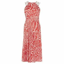 Karen Millen Animal Print Midi Dress