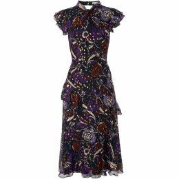 Whistles Montrose Dobby Midi Dress