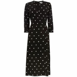 Warehouse Spot Print Midi Dress