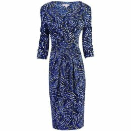 Jolie Moi Wrap Front Midi Dress