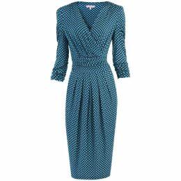 Jolie Moi Wrap Front Midi Dress