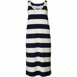 Winser London Parisian Striped Midi Dress