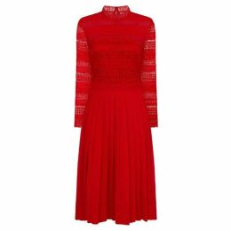Chi Chi Crochet Bodice Midi Dress