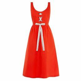 Karen Millen Lace-Up Midi Dress