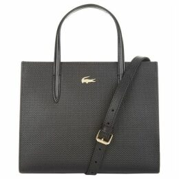 Lacoste Chantaco Dual Carry Piqué Zip Leather Tote