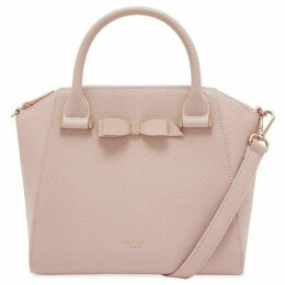 Ted Baker Janne Bow Detail Zipped Leather Tote Bag