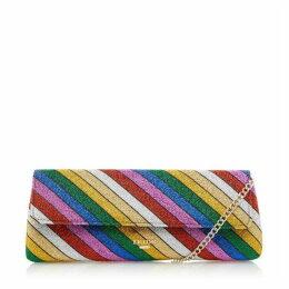 Dune Bainbow Striped Clutch Bag