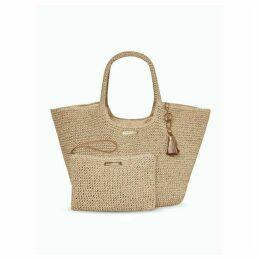 Seaspray Natural Raffia Bag With Clutch
