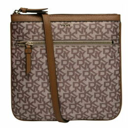 DKNY Casey nylon logo zip top cross body bag