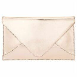 Phase Eight Metallic Leather Envelope Clutch