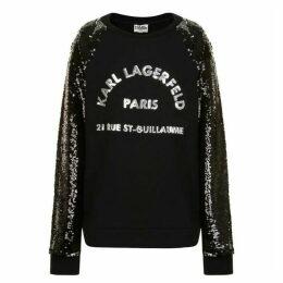 Karl Lagerfeld Sequin Skool Sweatshirt