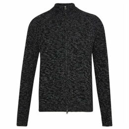 French Connection Twisted Rib Zip Through Cardigan
