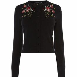 Karen Millen Embroidered Knit Cardigan