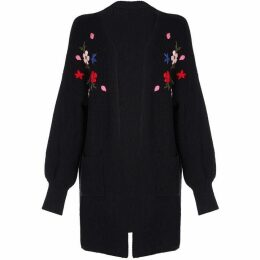 Yumi Floral Embroidered Folk Cardigan