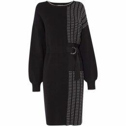 Karen Millen Half-Pleated Jumper Dress