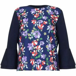 Yumi Flared Sleeve Botanical Jumper
