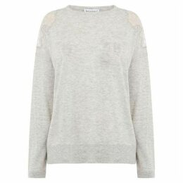 Warehouse Lace Shoulder Jumper