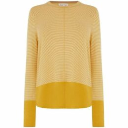 Warehouse Block Hem Fine Stripe Jumper