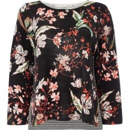 Oui Floral knitted jumper