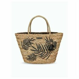 Seaspray Palm Detail Raffia Bag