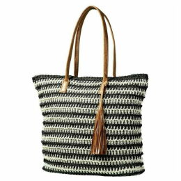 Yumi Natural Weaved Nautical Bag With Tassel