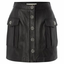 Michael Kors Flap pocket a line skirt