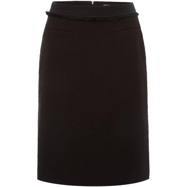 Boss A-line skirt with fringe