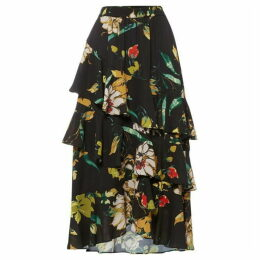 Biba Printed ruffle layer skirt