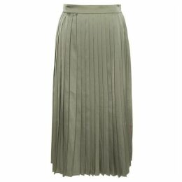Great Plains Satin Luxe Pleated Skirt