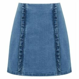 Oasis Structured frill mini skirt