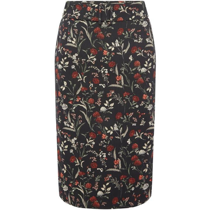 Marella Floral jacquard skirt