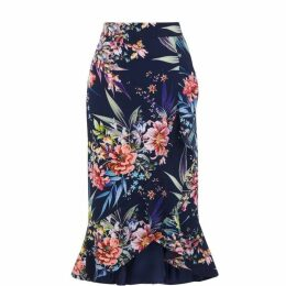 Oasis Citrus floral frill skirt