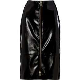 Biba Crackle PU zip front skirt