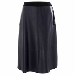 Sportmax Code Newport leather skirt