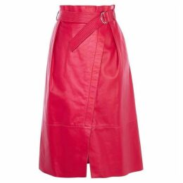 Karen Millen Leather Wrap Skirt