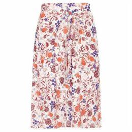Yumi Swirled Flower Print Skirt