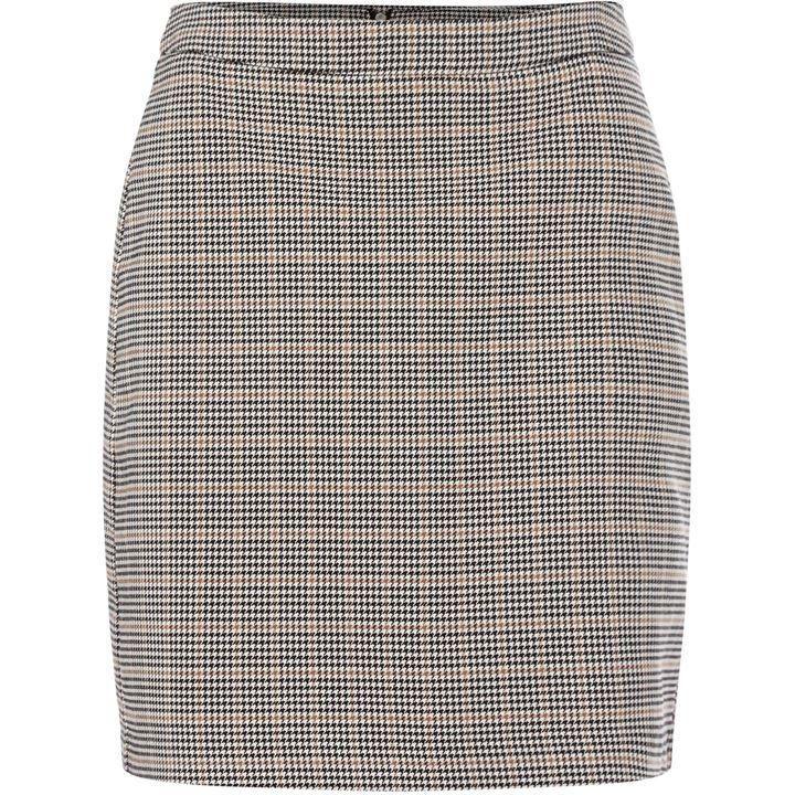 Vero Moda Kamma Knee Length Checked Skirt